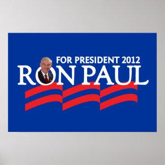 Ron Paul para el poster 2012 del presidente elecci