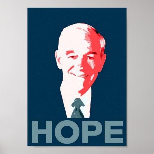 Ron Paul para el poster de la esperanza del