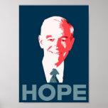 Ron Paul para el poster de la esperanza del presid