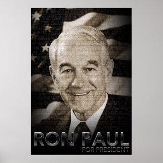 Ron Paul para el poster del presidente 2012 Póster