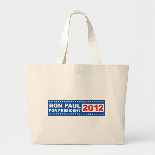 Ron Paul para el presidente 2012 Bolsa Tela Grande