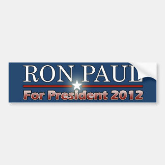 Ron Paul para el presidente 2012 Etiqueta De Parachoque