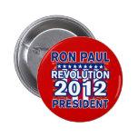 Ron Paul para el presidente 2012 camisetas Pins