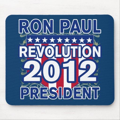 Ron Paul para el presidente 2012 camisetas Tapete De Ratones