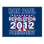 Ron Paul para el presidente 2012 camisetas Tarjetas Postales