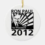 Ron Paul para el presidente 2012 Adorno Redondo De Cerámica