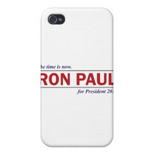 Ron Paul para el presidente 2012 el tiempo ahora e iPhone 4 Coberturas