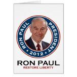 Ron Paul para el presidente 2012 Felicitacion