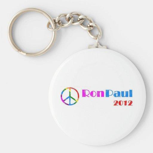 Ron Paul para el presidente 2012 Llaveros