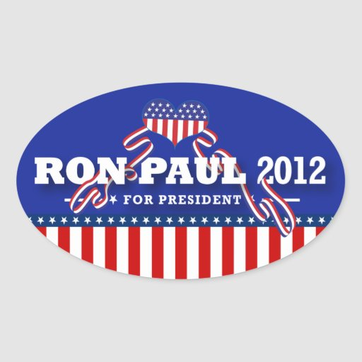 Ron Paul para el presidente 2012 Calcomania Óval