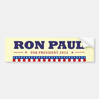 Ron Paul para el presidente 2012 Pegatina Para Auto