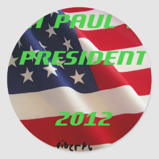 Ron Paul para el presidente 2012 Pegatina Redonda