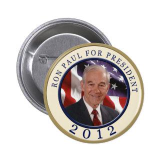 Ron Paul para el presidente 2012 Pin Redondo De 2 Pulgadas