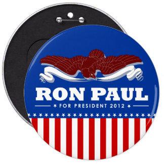 Ron Paul para el presidente 2012 Pin Redondo De 6 Pulgadas