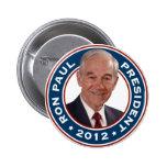Ron Paul para el presidente 2012 Pins