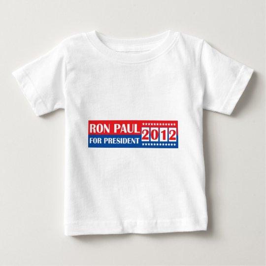 Ron Paul para el presidente 2012 Playera De Bebé