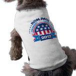 Ron Paul para el presidente 2012 Camiseta De Perrito