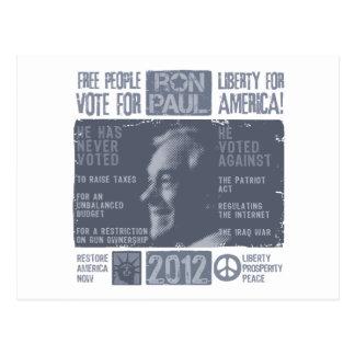 Ron Paul para el presidente 2012 Postal