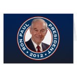 Ron Paul para el presidente 2012 Tarjeton