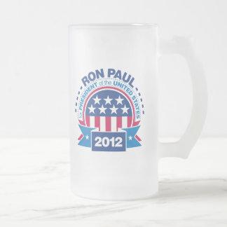 Ron Paul para el presidente 2012 Taza De Cristal