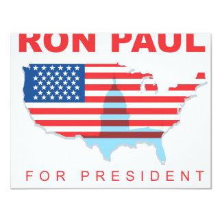 Ron Paul para el presidente (3) Invitacion Personalizada