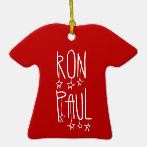 Ron Paul para el presidente Adornos De Navidad