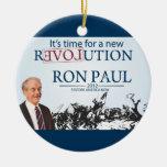 Ron Paul para el presidente Adorno Redondo De Cerámica
