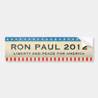 Ron Paul para el presidente en 2012 Pegatina De Parachoque
