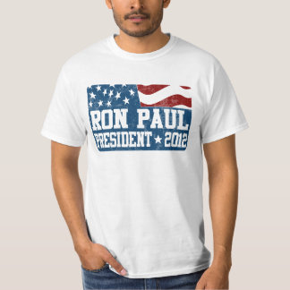 Ron Paul para el presidente en 2012 Remera