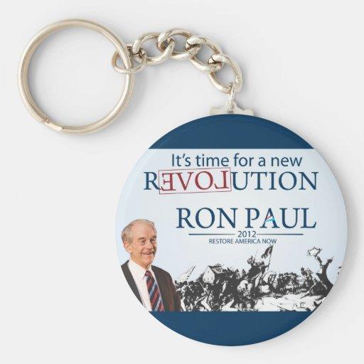 Ron Paul para el presidente Llaveros