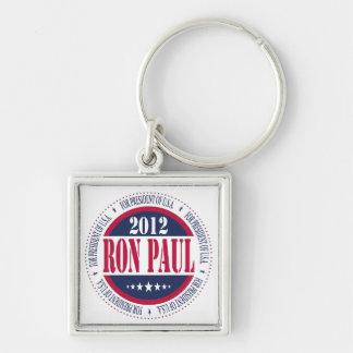 Ron Paul para el presidente Llavero Cuadrado Plateado