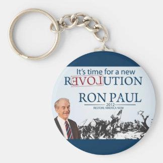 Ron Paul para el presidente Llavero Redondo Tipo Pin