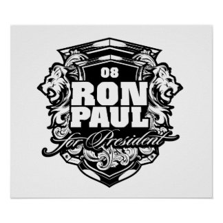 Ron Paul para el presidente Poster