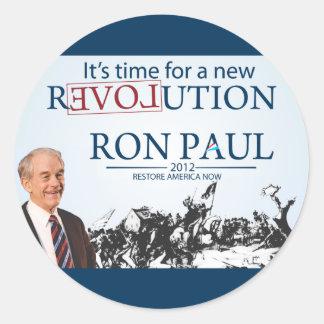 Ron Paul para el presidente Etiqueta Redonda
