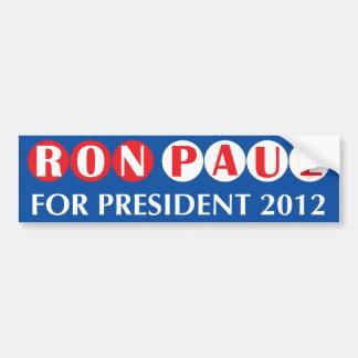 Ron Paul para el presidente pegatina para el parac Pegatina De Parachoque