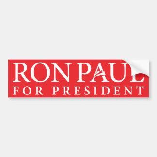 Ron Paul para el presidente pegatina para el parac Pegatina Para Auto
