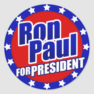 Ron Paul para el presidente Pegatina Redonda