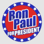 Ron Paul para el presidente Pegatinas Redondas
