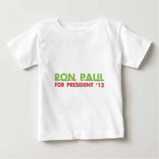 RON PAUL PARA EL PRESIDENTE PLAYERA DE BEBÉ