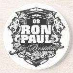 Ron Paul para el presidente Posavasos Cerveza