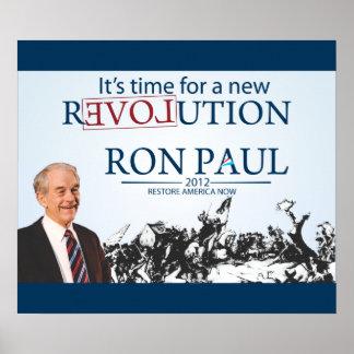 Ron Paul para el presidente Póster