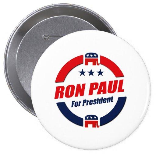 RON PAUL PARA el PRESIDENTE (republicano) Pins