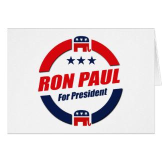 RON PAUL PARA el PRESIDENTE (republicano) Felicitación