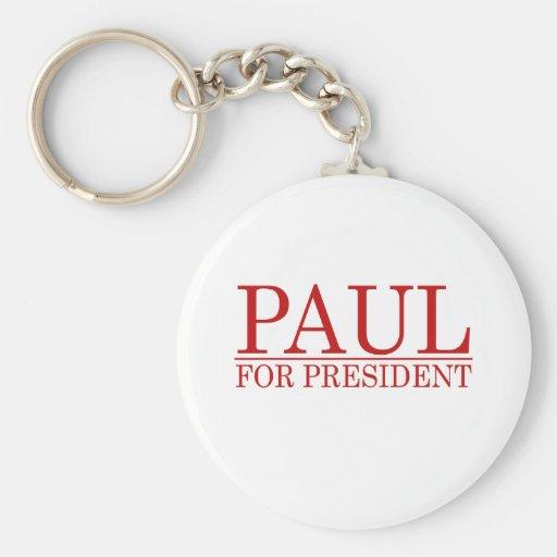 RON PAUL PARA el PRESIDENTE (rojo Llavero Personalizado