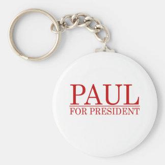 RON PAUL PARA el PRESIDENTE (rojo Llavero Redondo Tipo Pin