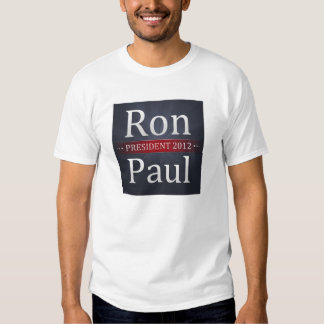 Ron Paul para la camiseta del presidente 2012 Remera