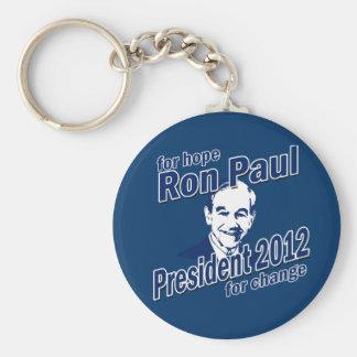 Ron Paul para la esperanza y el cambio Llavero Redondo Tipo Pin