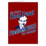Ron Paul para la esperanza y el cambio Tarjetas