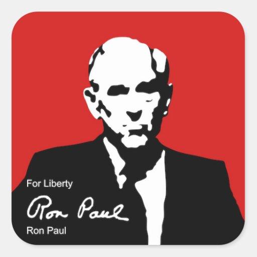 Ron Paul para la libertad Calcomanía Cuadradase