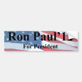 Ron Paul para presidente Bumpersticker Pegatina Para Auto